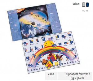 Supplier ATK Bantex 4160 Desk Pad for Alphabets Motives 33 x 46 cm Harga Grosir