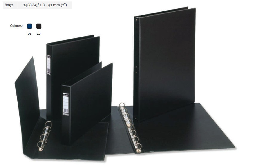 Supplier ATK Bantex 8052 Ring Binder 1468 A3 Landscape 2D-52mm Harga Grosir