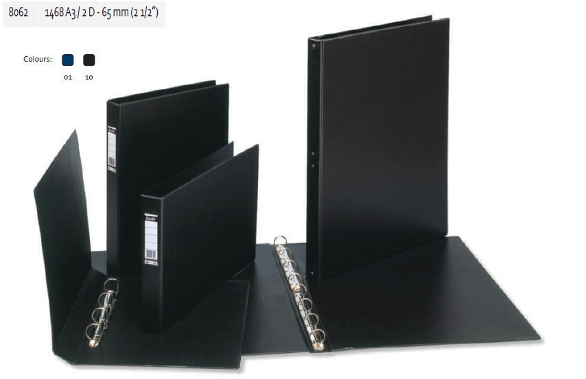 Supplier ATK Bantex 8062 Ring Binder 1468 A3 Landscape 2D-65mm Harga Grosir