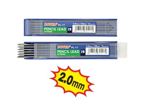 Supplier ATK Joyko Isi Pensil Mekanik PL-17 (2B, 2.0mm) Harga Grosir