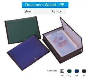 Supplier ATK Bantex 3610 PP Document Wallet A4 Harga Grosir