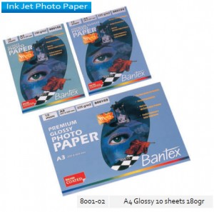 Supplier ATK Bantex 8001-02 Ink Jet Photo Paper Gloosy A4 10's 180 gr  Harga Grosir