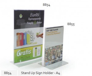 Supplier ATK Bantex 8854-08 Stand up Sign Holder A4 Harga Grosir