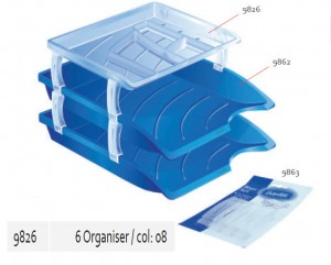 Supplier ATK Bantex 9826-08 Organiser Document Tray Optima Transparant Harga Grosir