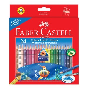 Supplier ATK Faber Castel 116243 Pensil Warna Cat Air Grip 24 Harga Grosir