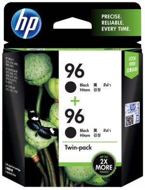 Distributor HP 96 (CC623AA) Black Inkjet Print Cartridge , Twin PackHarga Murah