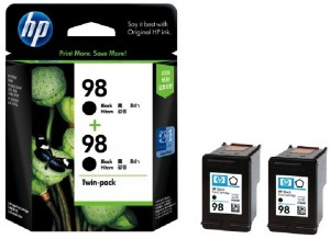 Distributor HP 98 (CC624AA) Black Inkjet Print Cartridge , Twin PackHarga Murah